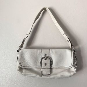 Fossil Mini beige leather shoulder bag
